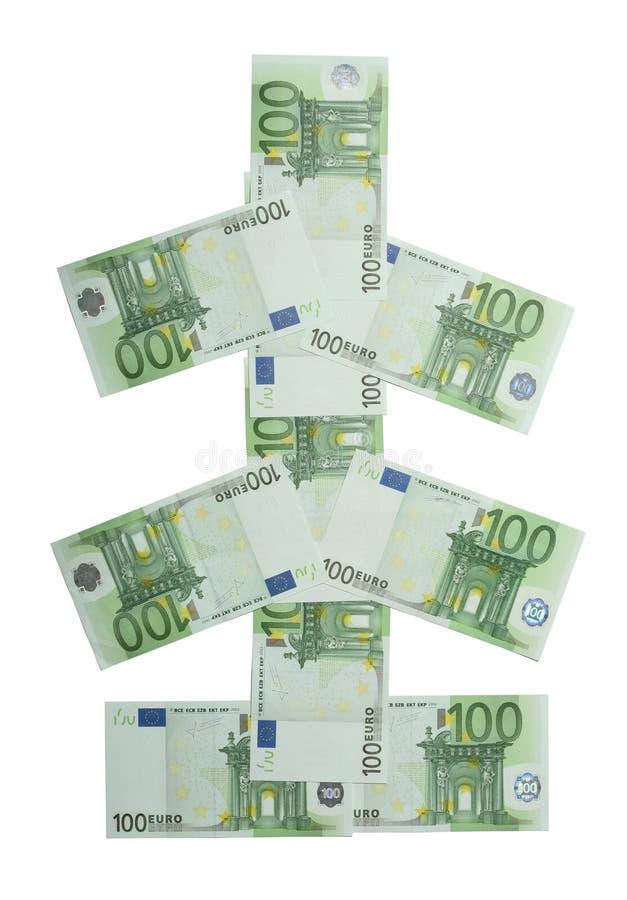Árbol de navidad euro foto de archivo