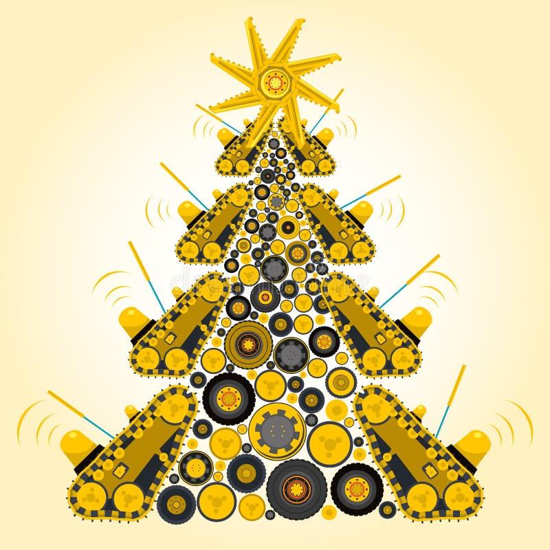Árbol de navidad extraño de la máquina ilustración del vector