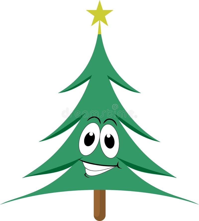 Árbol de navidad feliz ilustración del vector