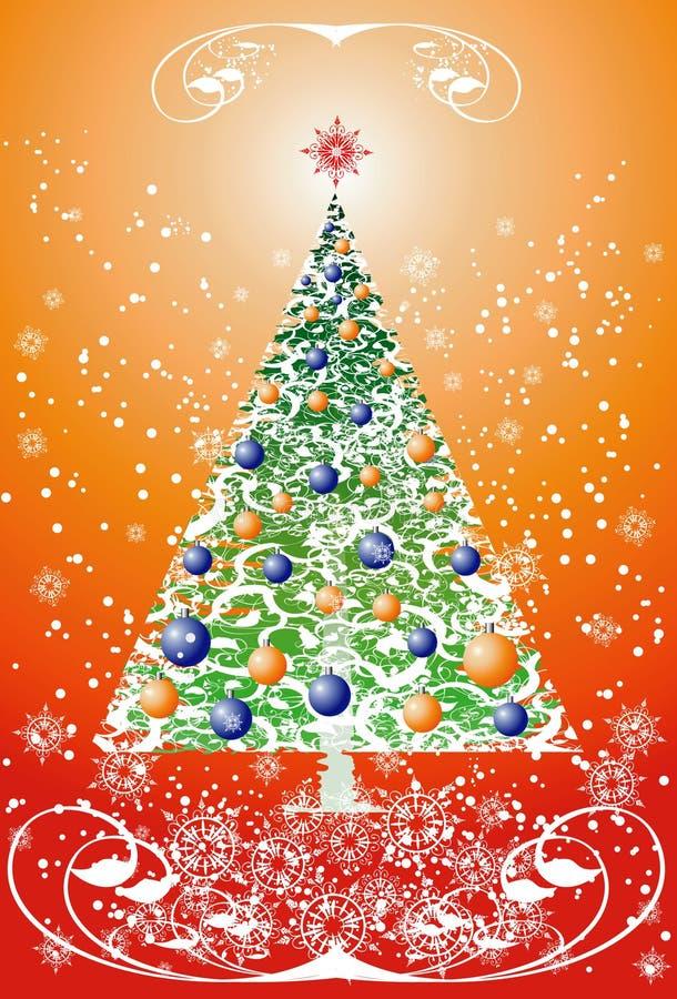 Download Árbol de navidad floral ilustración del vector. Ilustración de flora - 1277851