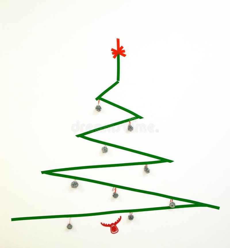 Rbol de navidad geom trico de la cinta aislante del - Cinta arbol navidad ...