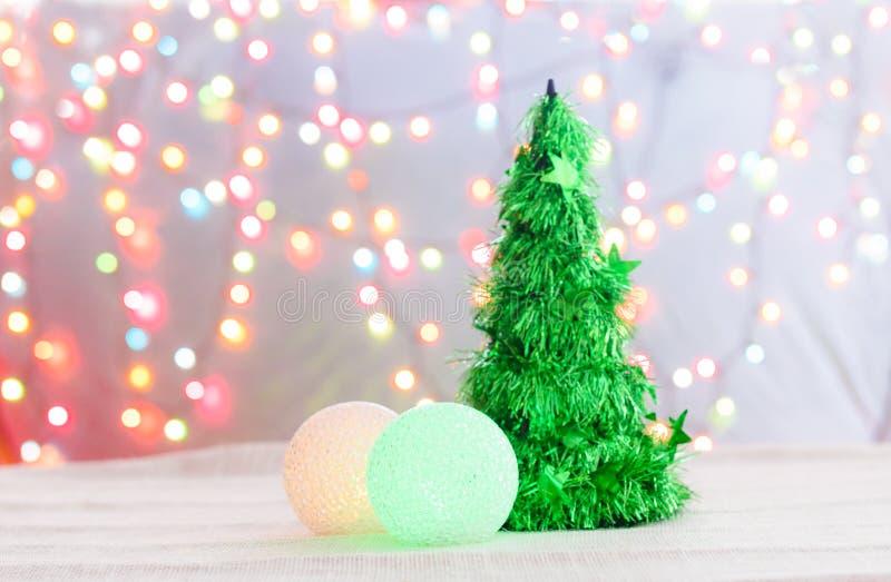 Árbol de navidad hecho de cristal fotografía de archivo