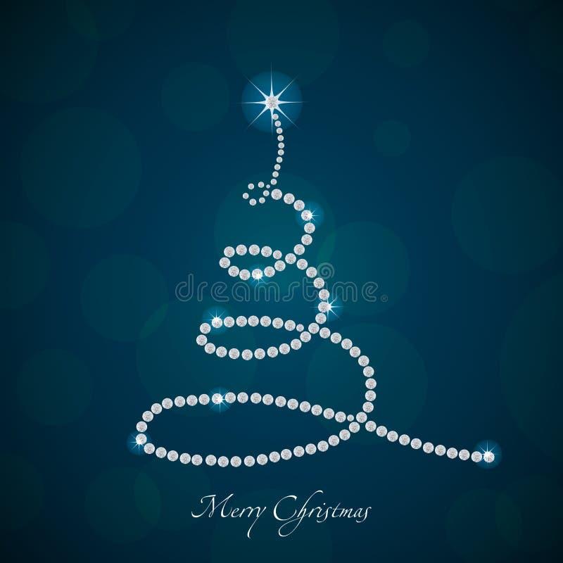 Árbol de navidad hecho de diamantes, 2013 del vector