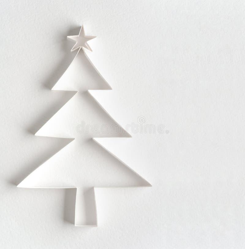 Árbol de navidad hecho del papel foto de archivo libre de regalías