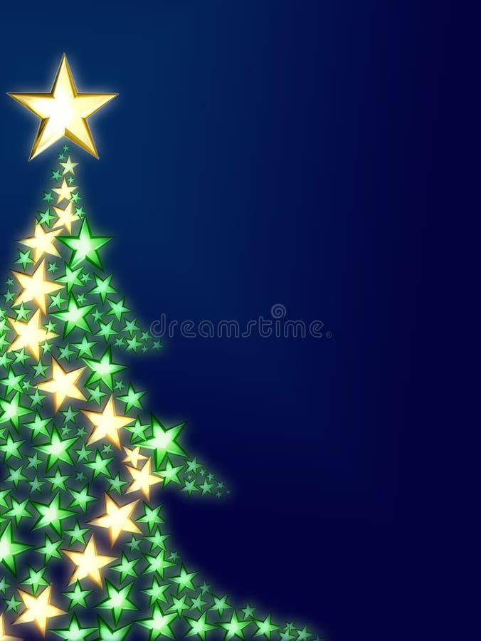 Árbol de navidad hermoso ilustración del vector