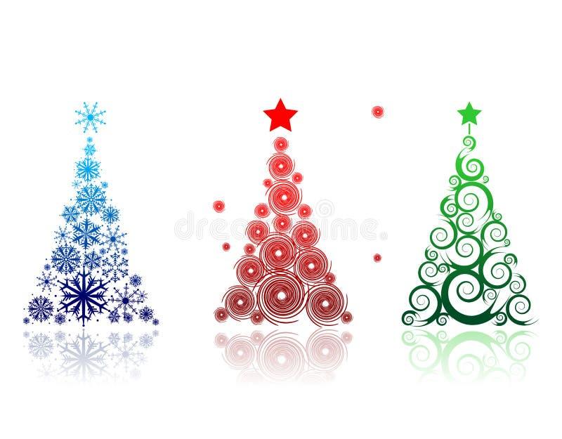 Árbol de navidad hermoso para su diseño stock de ilustración