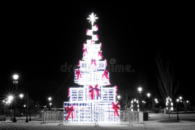 Árbol de navidad Lawrenceville foto de archivo libre de regalías