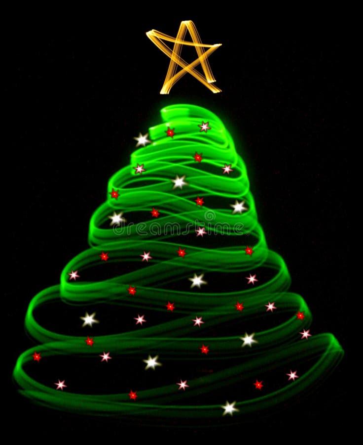Árbol de navidad ligero imagen de archivo libre de regalías