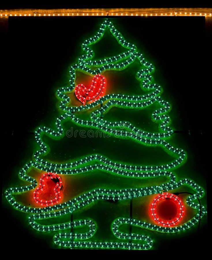 Árbol de navidad - luces de Navidad fotografía de archivo libre de regalías