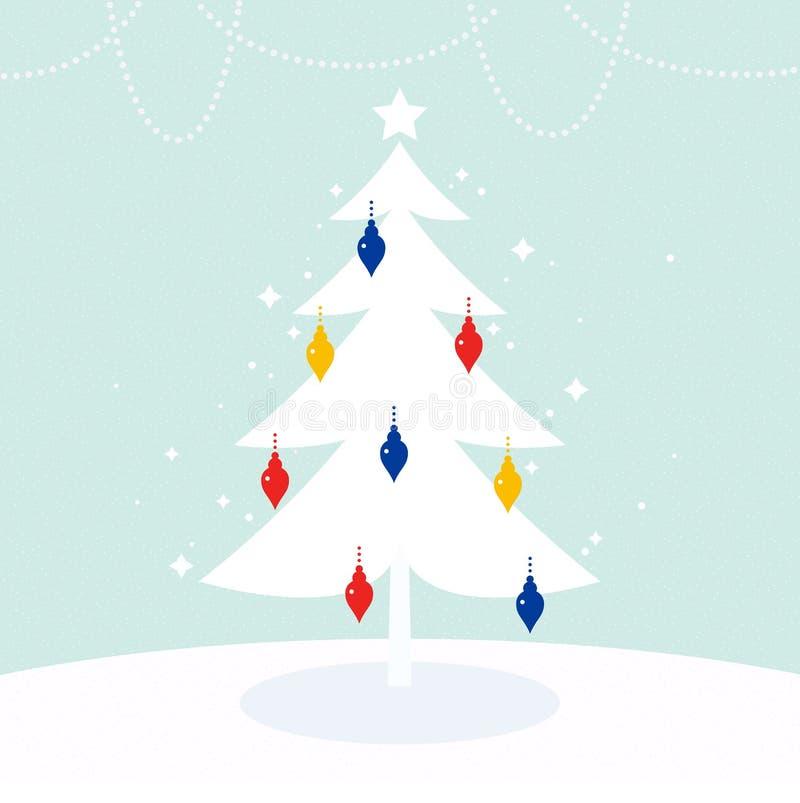 Árbol de navidad mágico ilustración del vector