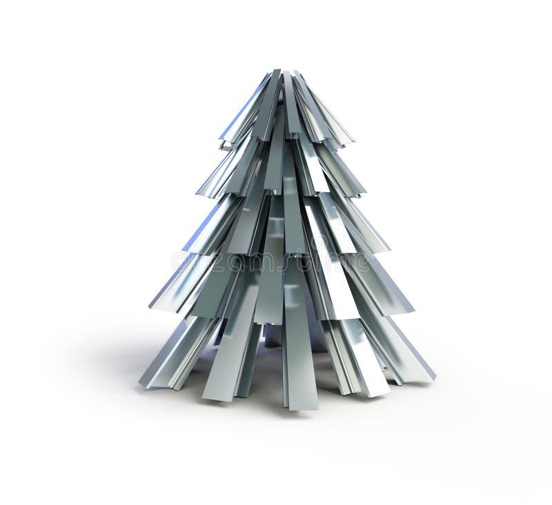 Árbol De Navidad Metal Del árbol De Abeto Stock de ilustración ...