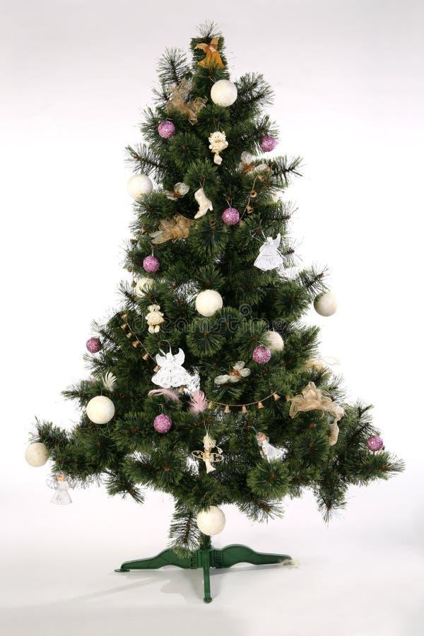 Árbol de navidad - mitad hecha imagenes de archivo