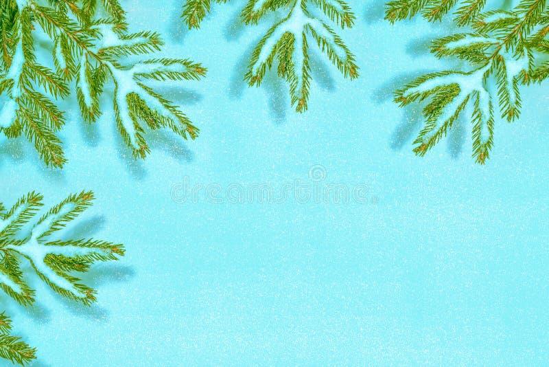 Árbol de navidad nevado del árbol fotografía de archivo