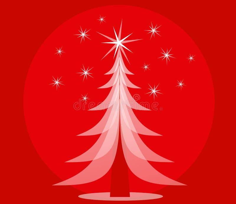 Árbol de navidad opaco rojo fotos de archivo