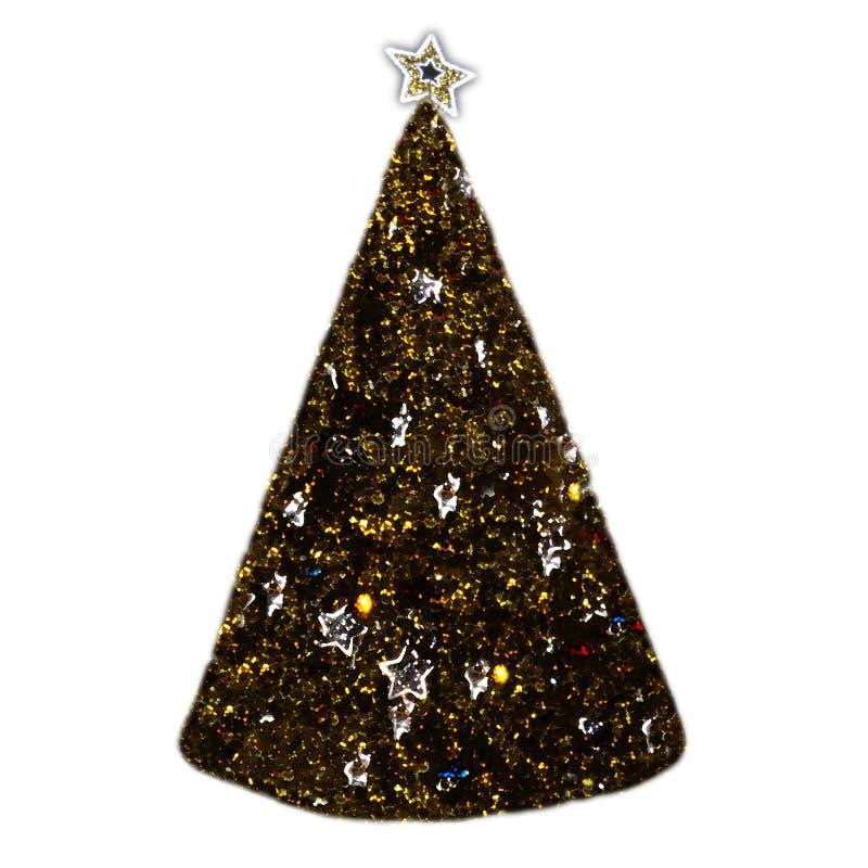 Árbol de navidad pintado con la estrella imagenes de archivo