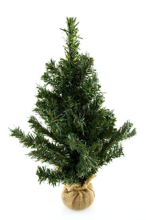 Árbol de navidad plástico descubierto fotos de archivo