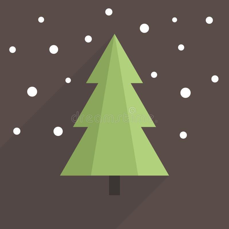 Árbol de navidad plano ilustración del vector