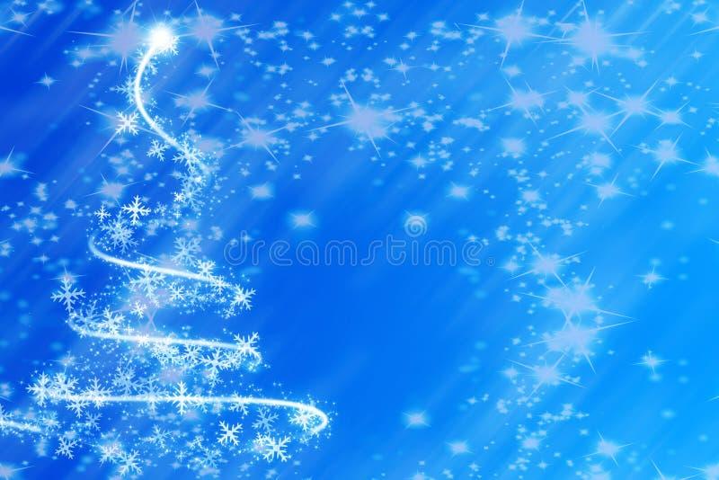 Árbol de navidad que remolina abstracto libre illustration