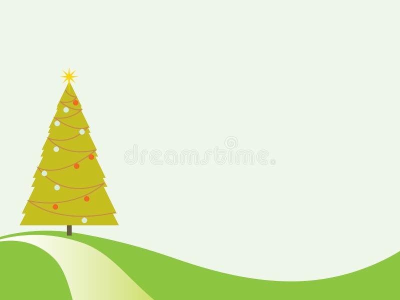 Árbol de navidad retro ilustración del vector