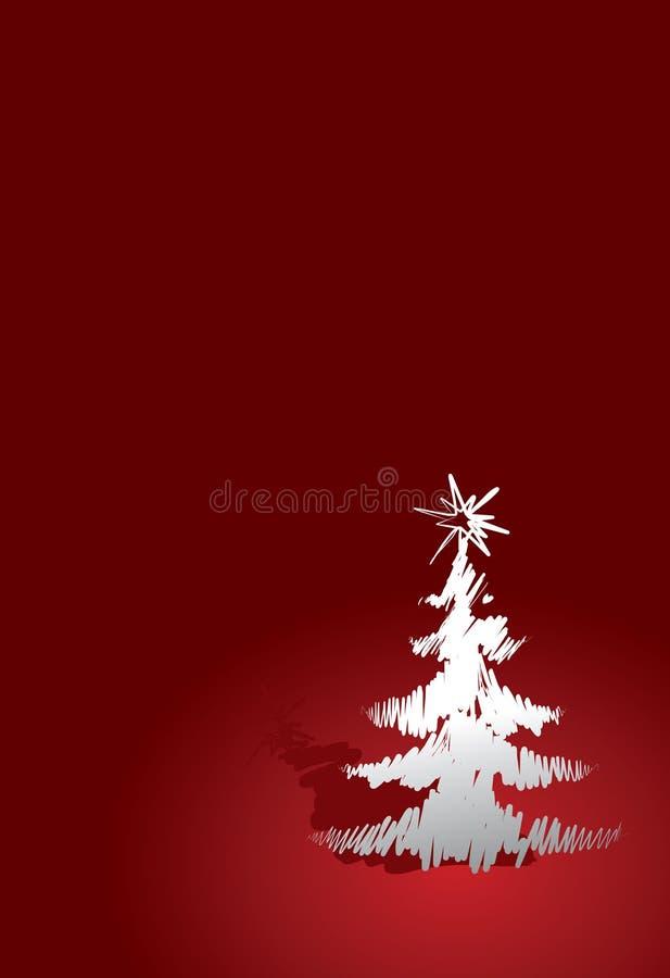 Árbol de navidad rojo stock de ilustración