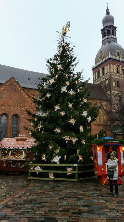 Árbol de navidad de Ryga foto de archivo libre de regalías