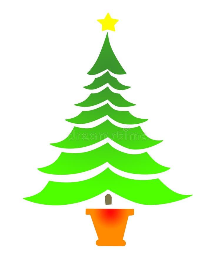 rbol de navidad simple con la estrella