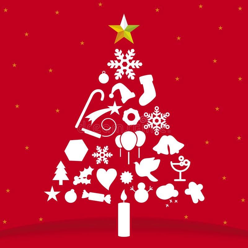 Árbol de navidad (vector) stock de ilustración