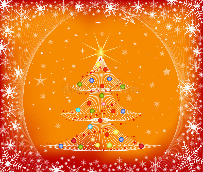 Árbol de navidad - vector libre illustration