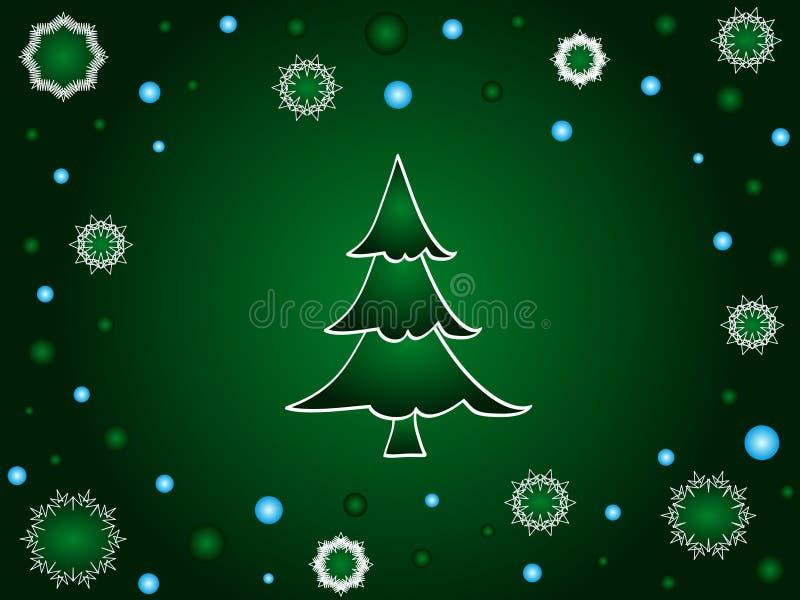 Árbol de navidad verde libre illustration