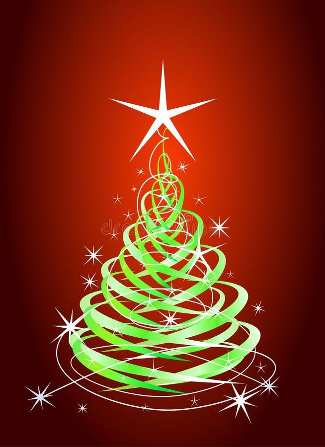 Árbol de navidad verde ilustración del vector