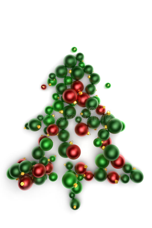 Árbol de navidad verde abstracto libre illustration