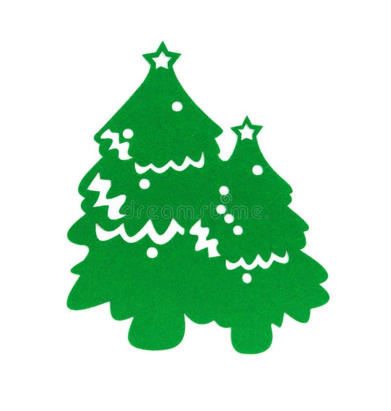 Árbol de navidad verde plano en blanco imagen de archivo libre de regalías