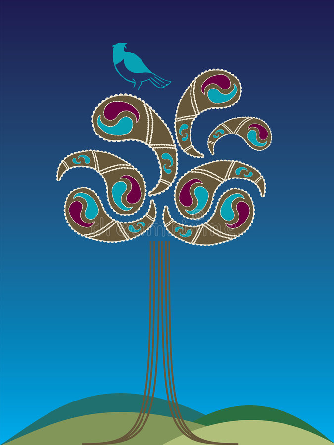 Árbol de Paisley de la perdiz libre illustration
