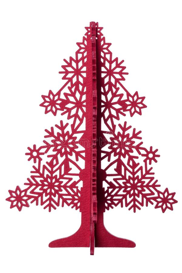 Árbol de papel decorativo en la Navidad y el Año Nuevo En el fondo blanco fotografía de archivo libre de regalías