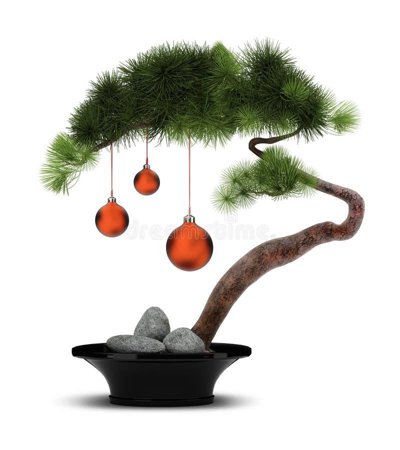 Árbol de pino chino del Año Nuevo stock de ilustración