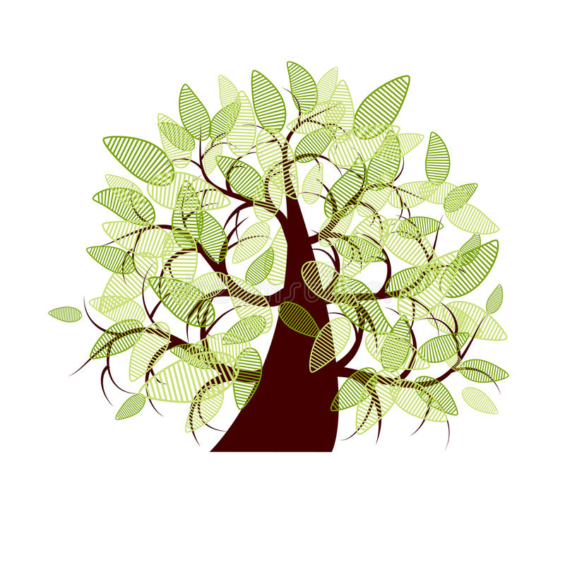 Árbol del arte hermoso para su diseño ilustración del vector