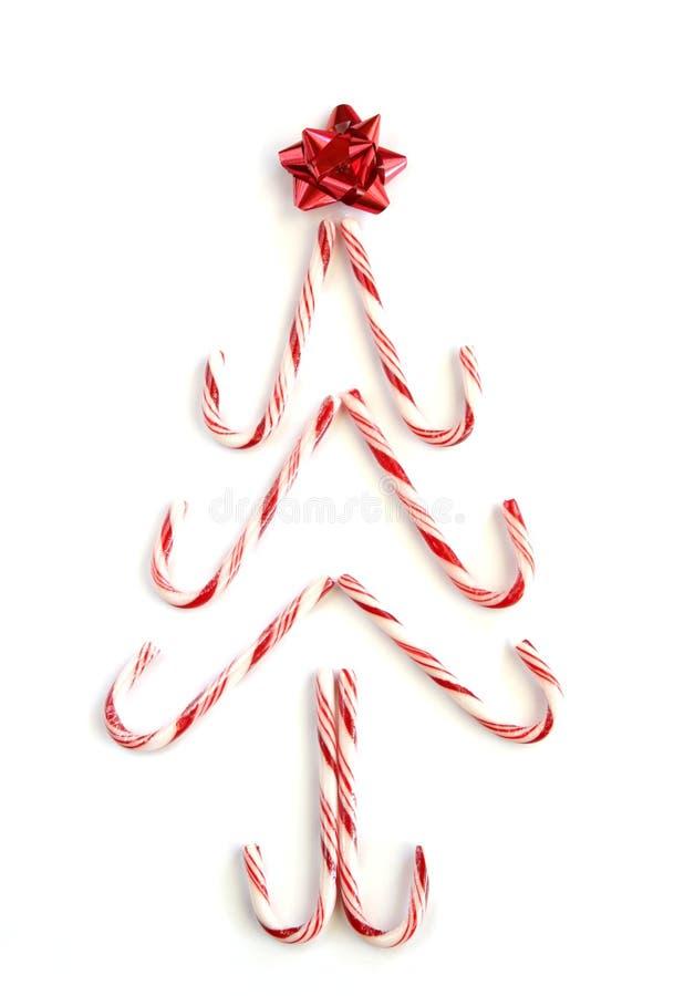 Árbol del bastón de caramelo foto de archivo libre de regalías