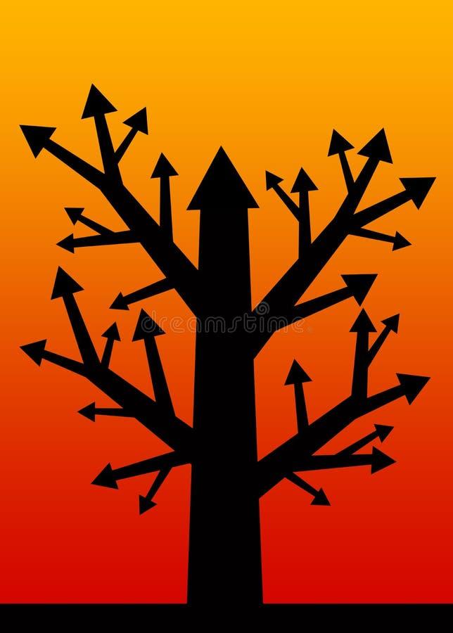 Árbol del beneficio ilustración del vector