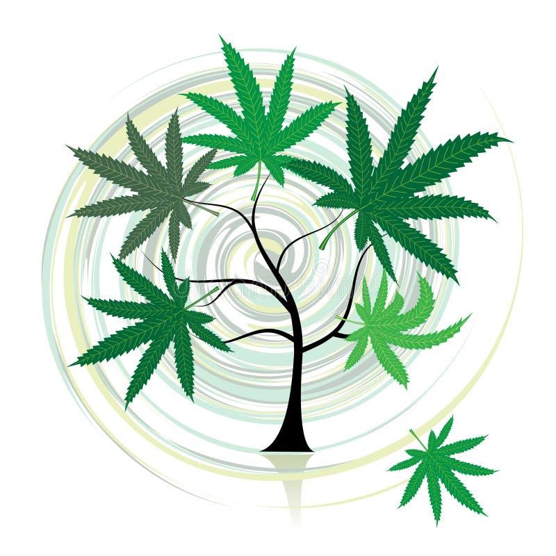 Árbol del cáñamo ilustración del vector