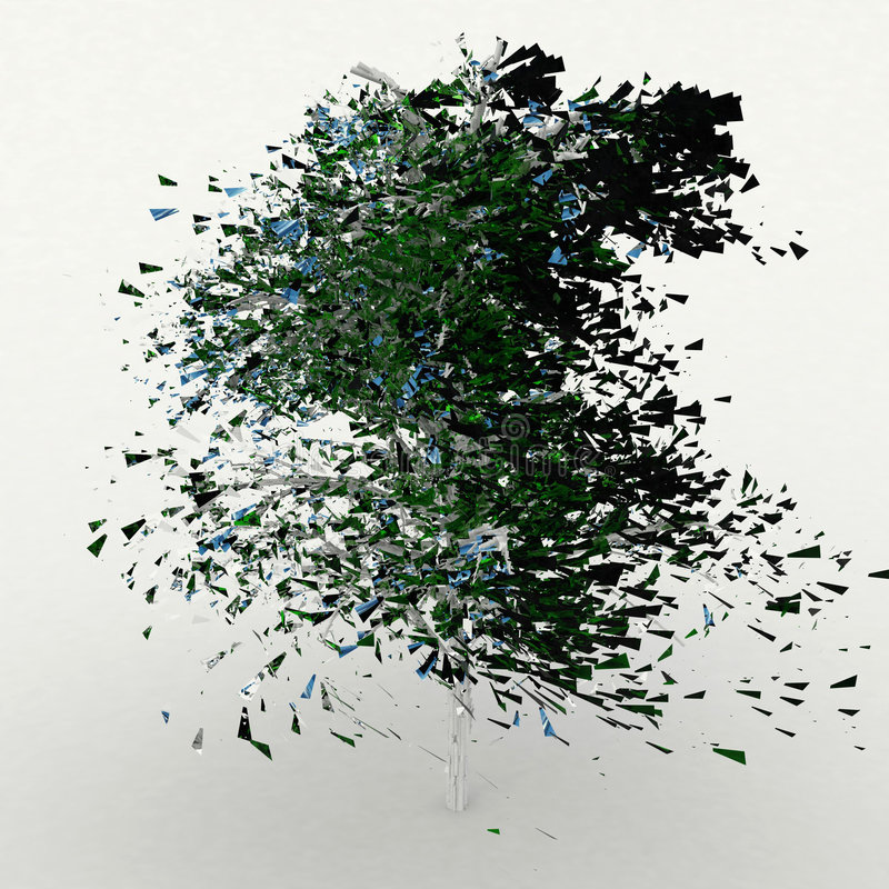 Árbol del casco del espejo stock de ilustración