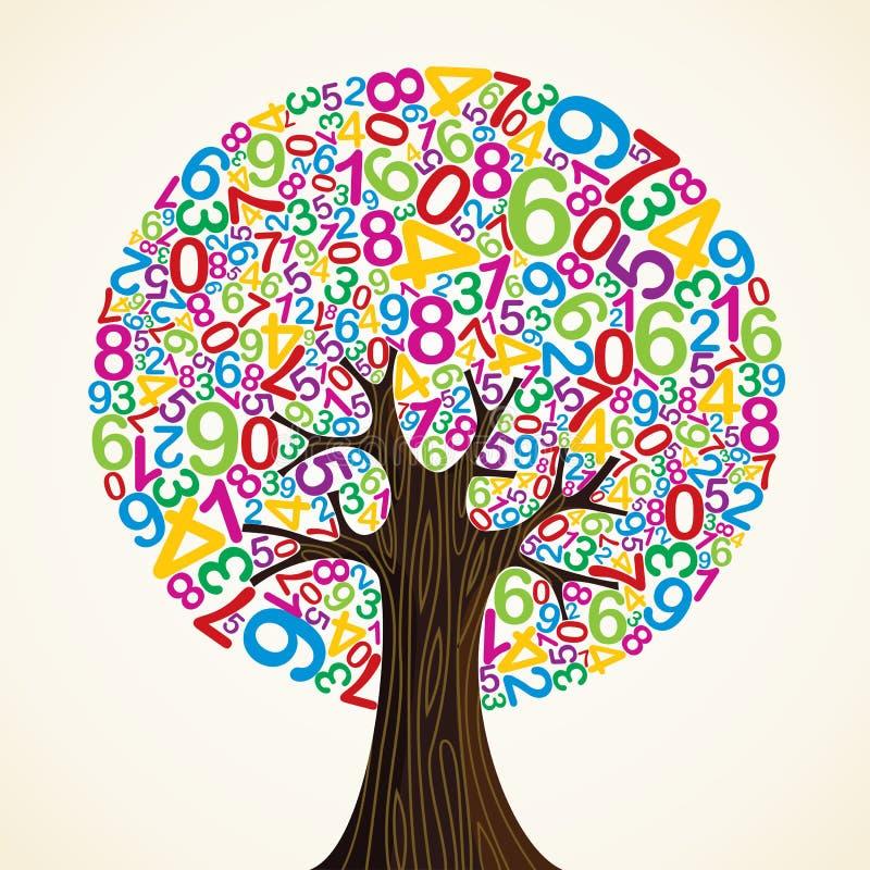Árbol del concepto de la educación escolar stock de ilustración