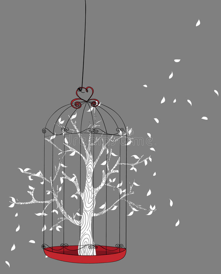 Árbol del concepto de la libertad ilustración del vector