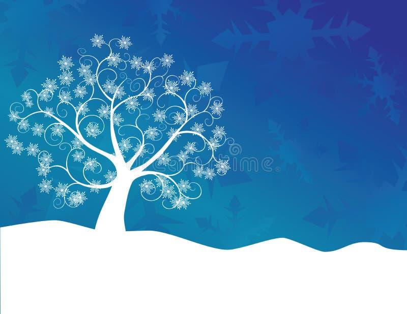 Árbol del copo de nieve stock de ilustración