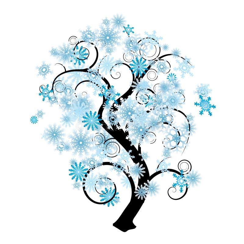Árbol del copo de nieve ilustración del vector