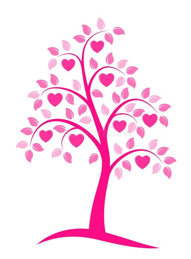 Árbol del corazón stock de ilustración