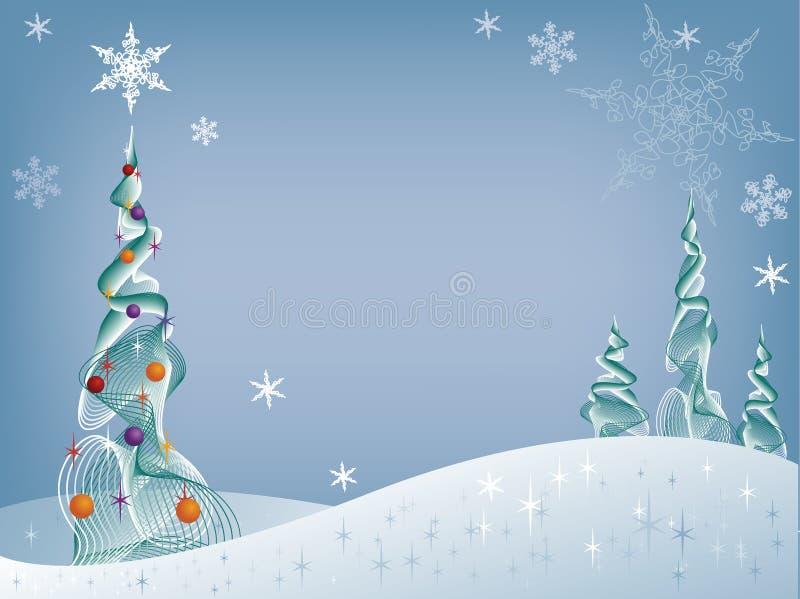 Árbol del día de fiesta en la nieve libre illustration