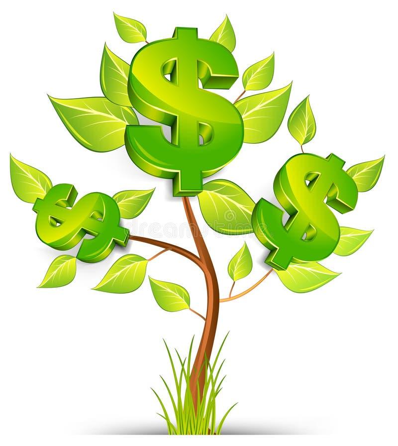 Árbol del dólar ilustración del vector