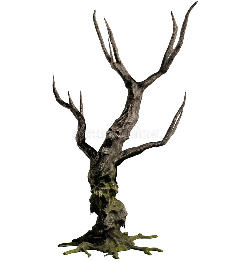 árbol del demonio 3D fotos de archivo