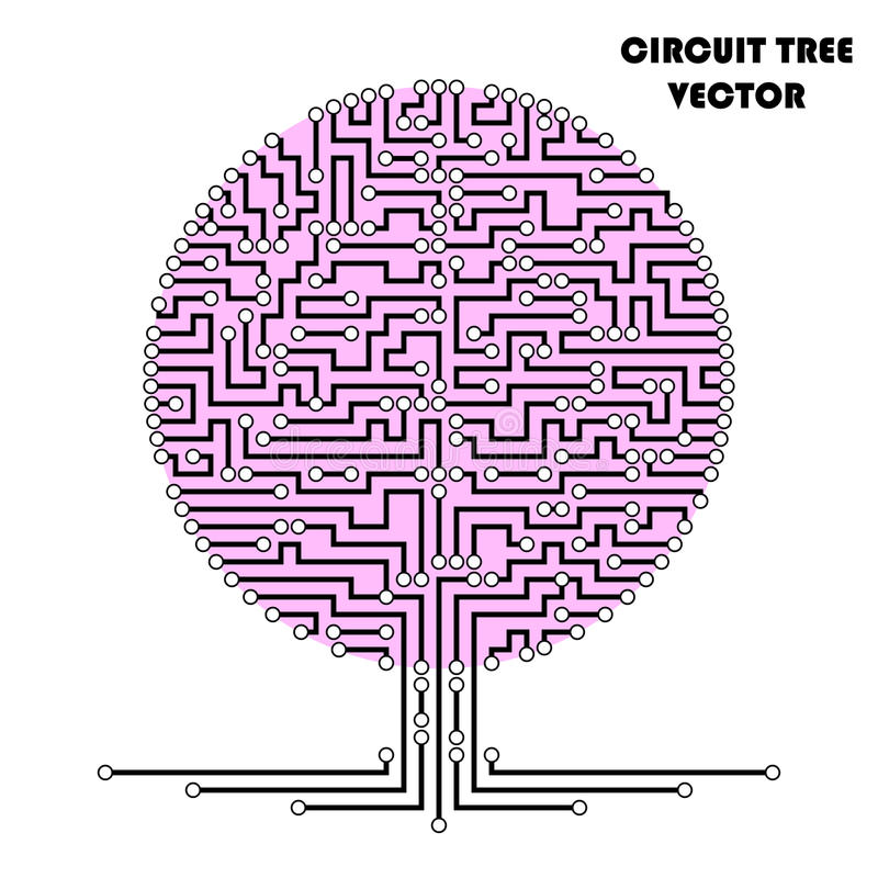 Árbol del esquema del circuito de ordenador libre illustration