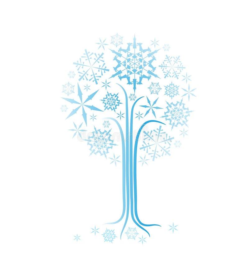 Árbol del extracto del invierno de la Navidad
